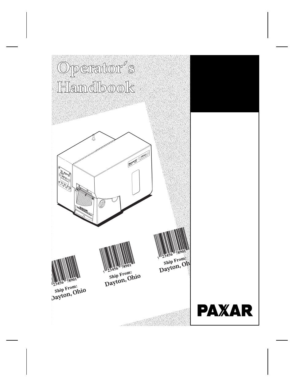 paxar monarch 9855 rfid printer user manual 124 pages rh manualsdir com Monarch Printer 9825 Monarch 9855 Error Codes