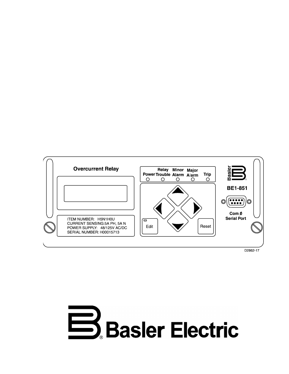 Basler Electric Be1 851 User Manual 364 Pages Also For Electromagnetic Relay In Pdf Background Image