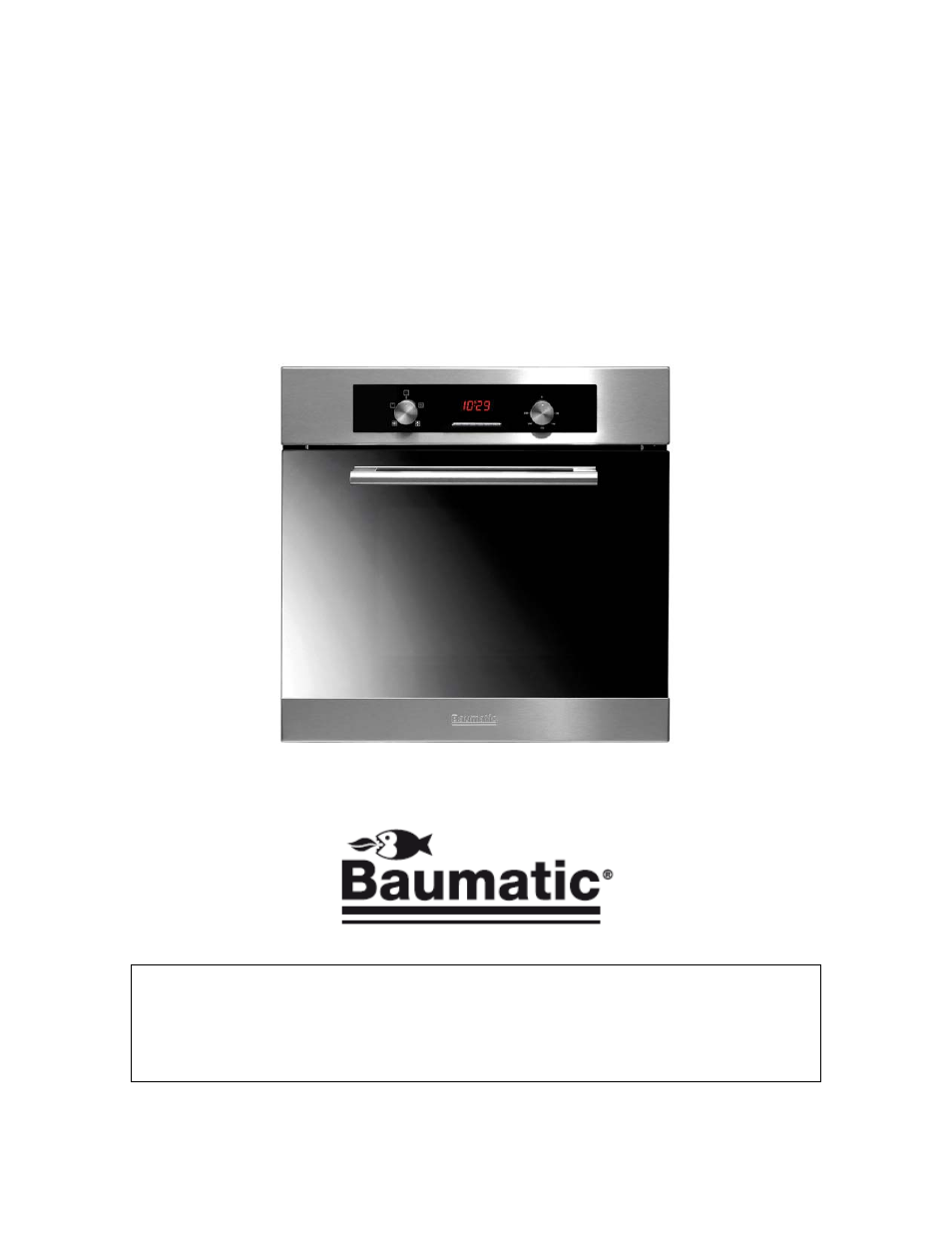 background image. User Manual for your Baumatic