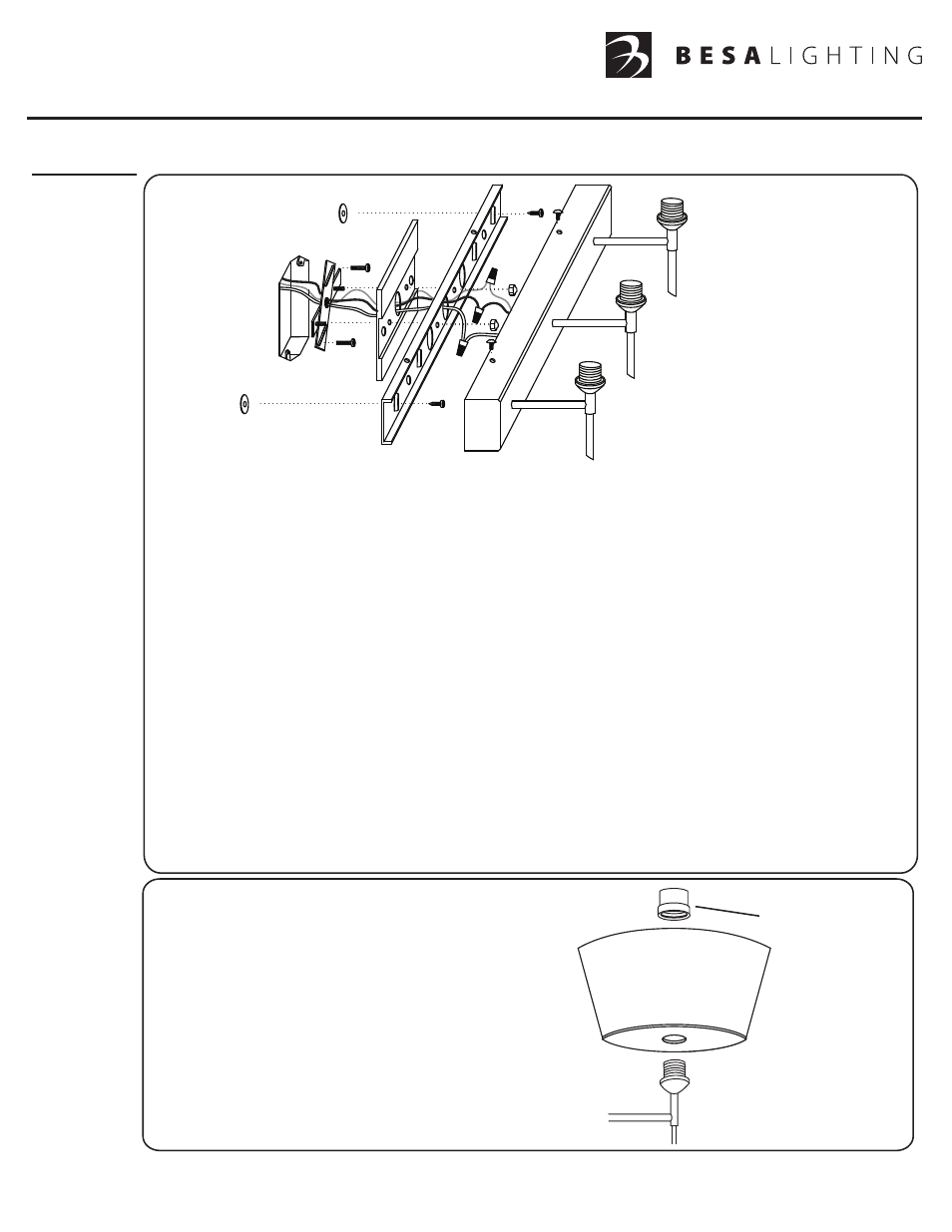 besa lighting groove vanity user manual 2 pages also for