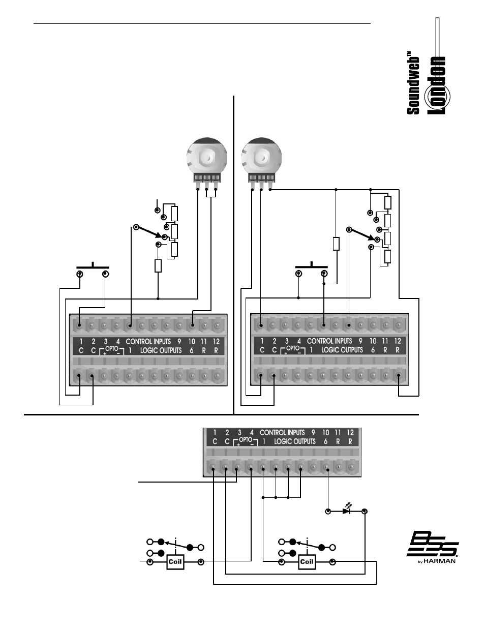 Bss Audio Blu 100 Install Guide User Manual Page 9 12 Also For 2wire Wiring A Potentiometer Background Image Switch 2 Wire Mode