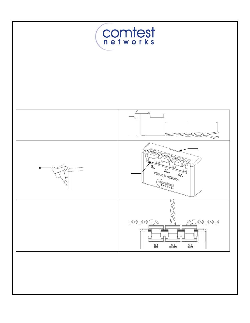 Comtest Networks Nid 01v Pots Splitter Datajack User Manual 2 Pages Wiring Diagram Background Image