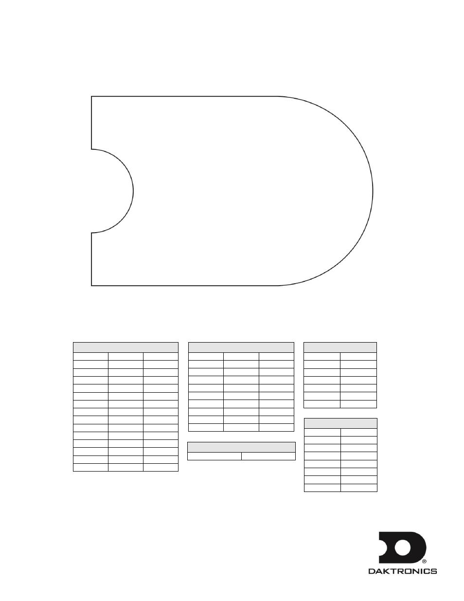 Daktronics Outdoor LED Scoreboards Installation User Manual