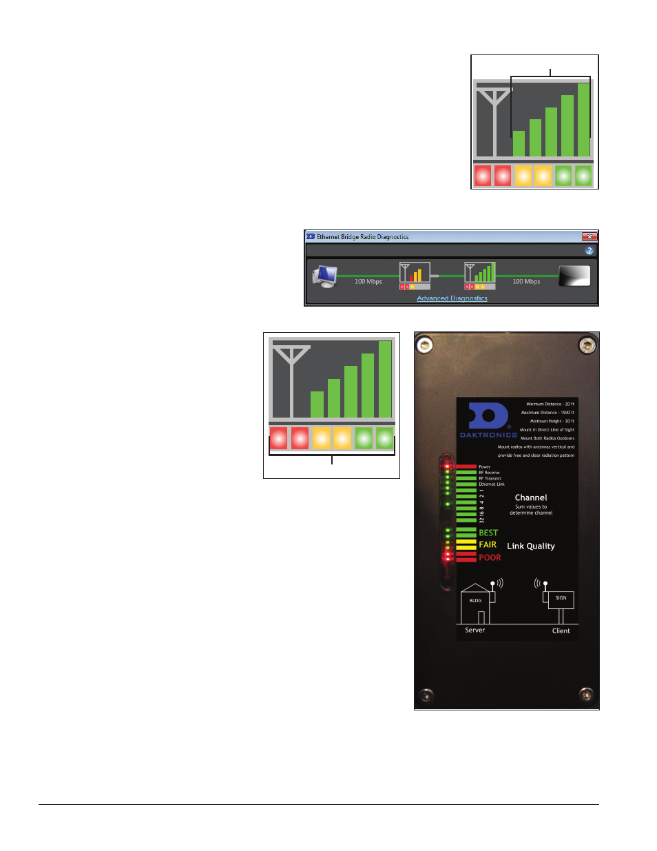 Daktronics Ethernet Bridge Radio EBR 900 MHz 0A 1327 1111 And