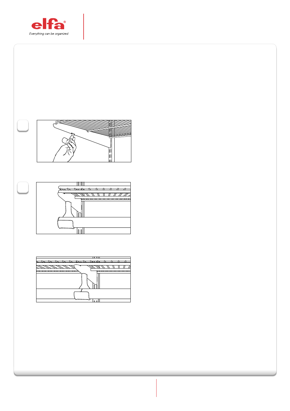 Elfa Closet Rod Holder And Rod User Manual 1 Page
