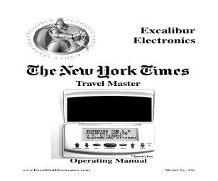 excalibur 456 the new york times travel master manuals rh manualsdir com Excalibur Einstein Touch Solitaire Excalibur Einstein Touch Solitaire