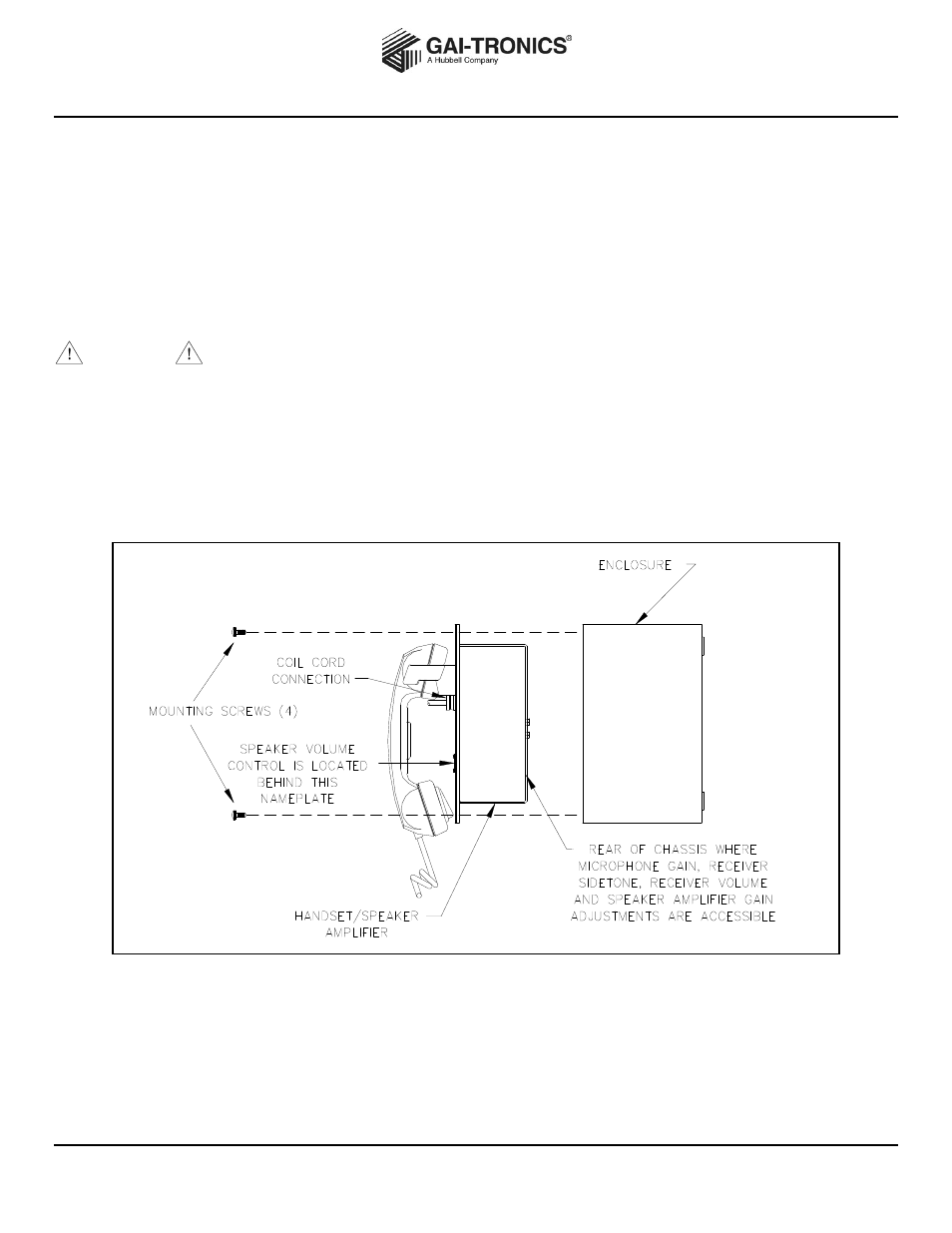 GAI-Tronics 701-307 Page/Party Handset / Speaker Amplifier (24 V DC