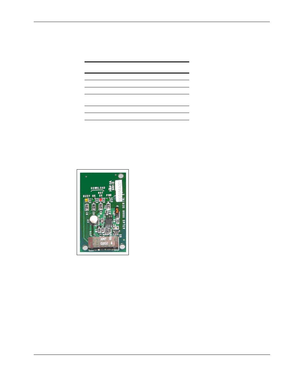 Atlas 9800 serial eeprom board (m06656k00x), Atlas 9800