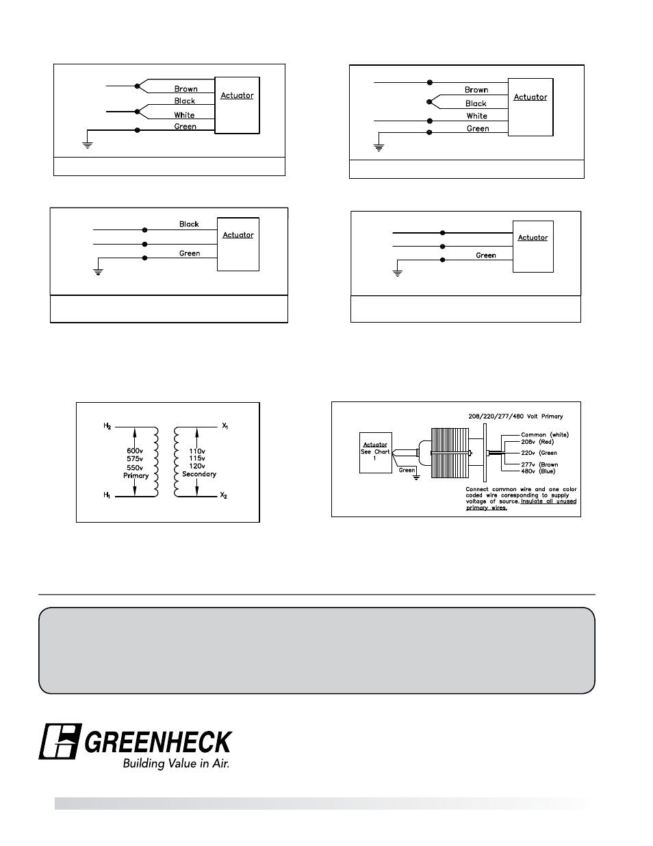 Our Commitment Actuator Wiring Diagrams Transformers Greenheck 480 Volt Transformer Diagram Background Image Optional For