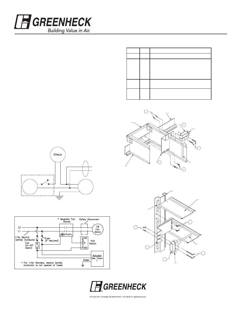 greenheck wd series end switch kit 452723 user manual 1 page Home Wiring Diagrams background image
