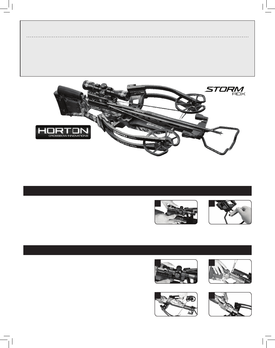 Horton Storm Rdx User Manual 4 Pages