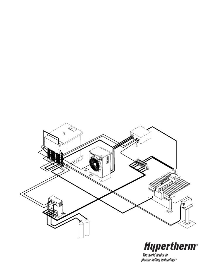 Hypertherm Ht4400 Hyspeed Plasma Arc Cutting System User Manual