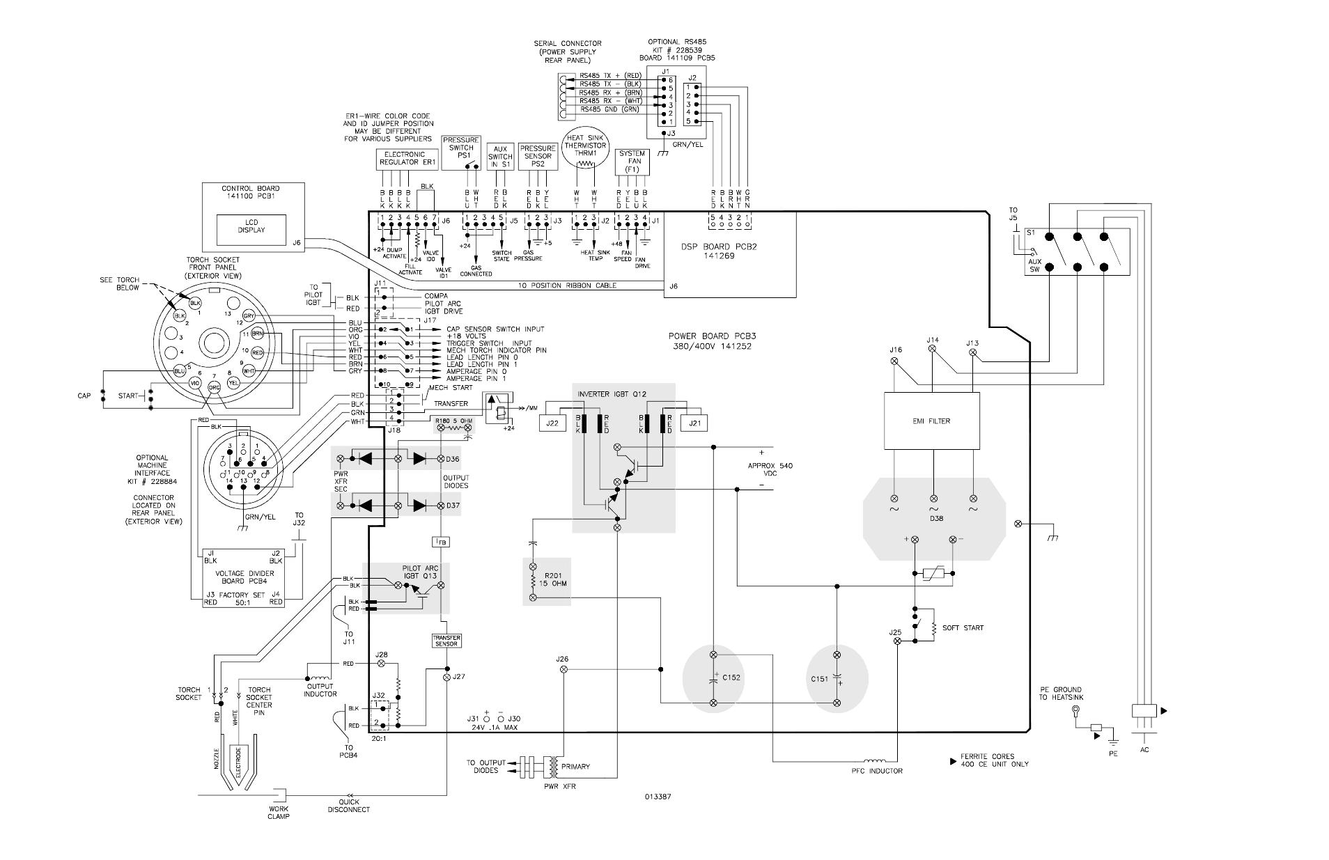 Schematic Diagram  380 V Ccc  400 V Ce   Schematic Diagram  380 V Ccc  400 V Ce