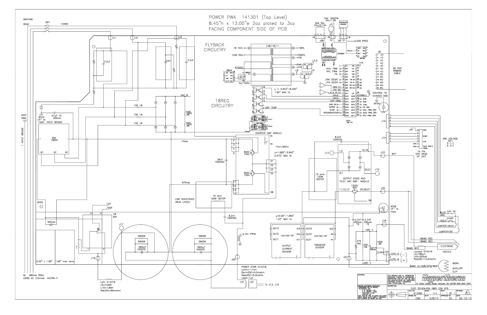 Power Board Wiring Diagram 480 V Csa Power Board Wiring Diagram 480 V Csa 7 Hypertherm Powermax45 Service Manual User Manual Page 149 149