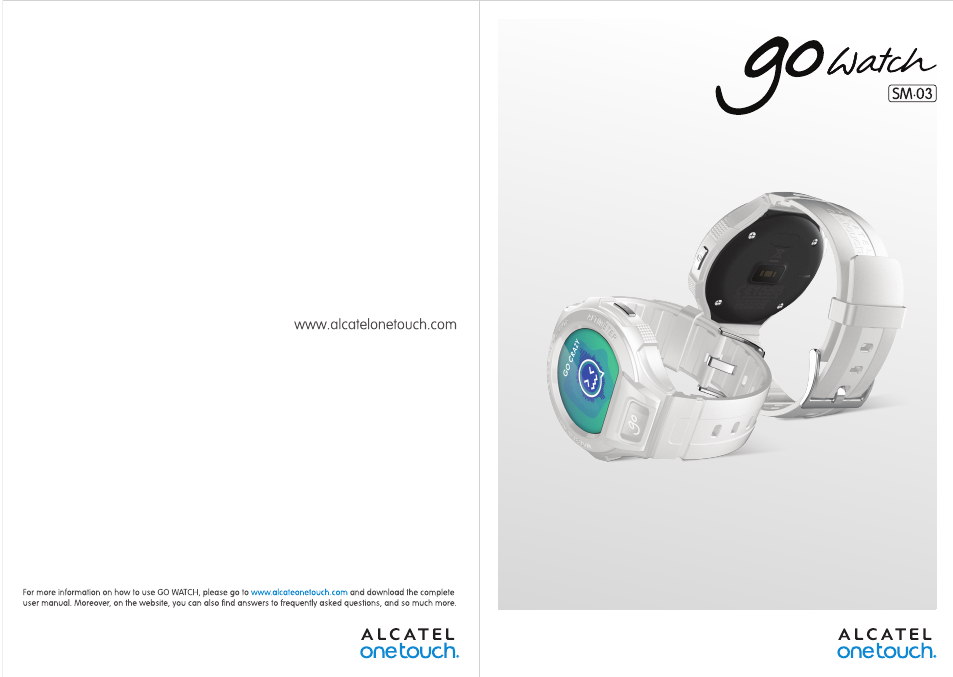 Alcatel Go Watch SM 03 User Manual | 24 pages