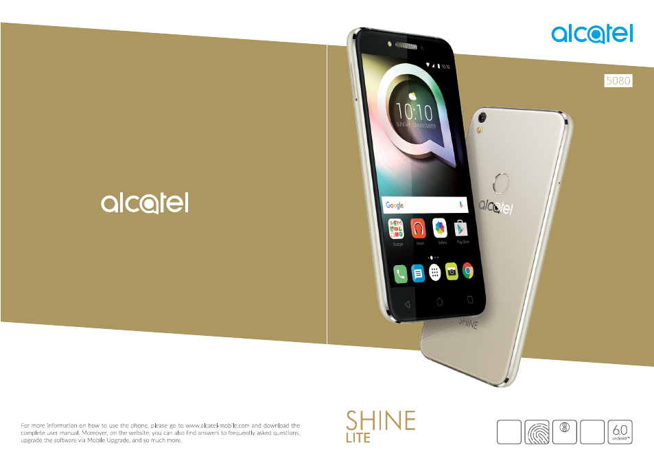 Alcatel Shine Lite 5080X User Manual | 53 pages | Also for: PIXI 4 5012F