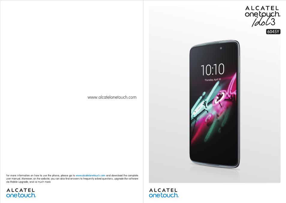 Alcatel Idol 3 6045Y User Manual | 65 pages