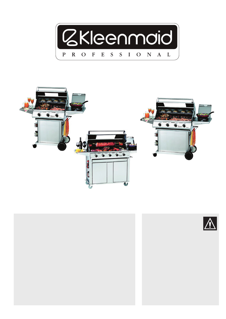 Kleenmaid BBQ3BF User Manual | 40 pages | Also for: BBQ4BF ... on