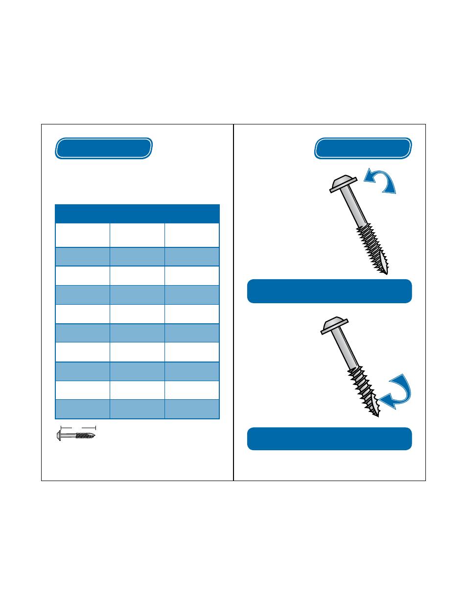 Fine thread, Coarse thread, Choosing a screw | Kreg Jig R3 User