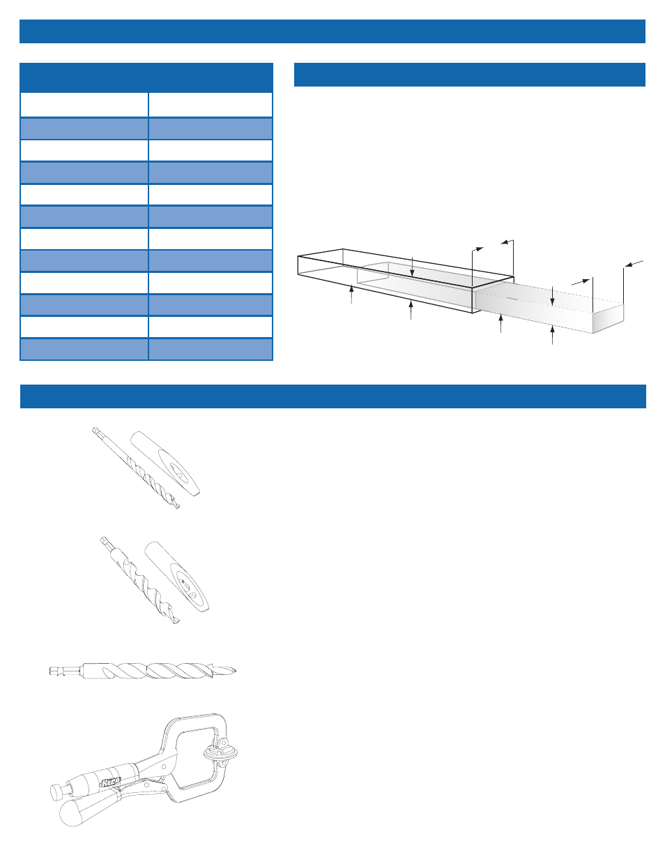 Tips, Optional accessories, Common board sizes | Kreg DB210