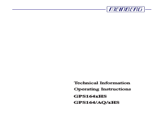 Meinberg GPS164xHS manuals