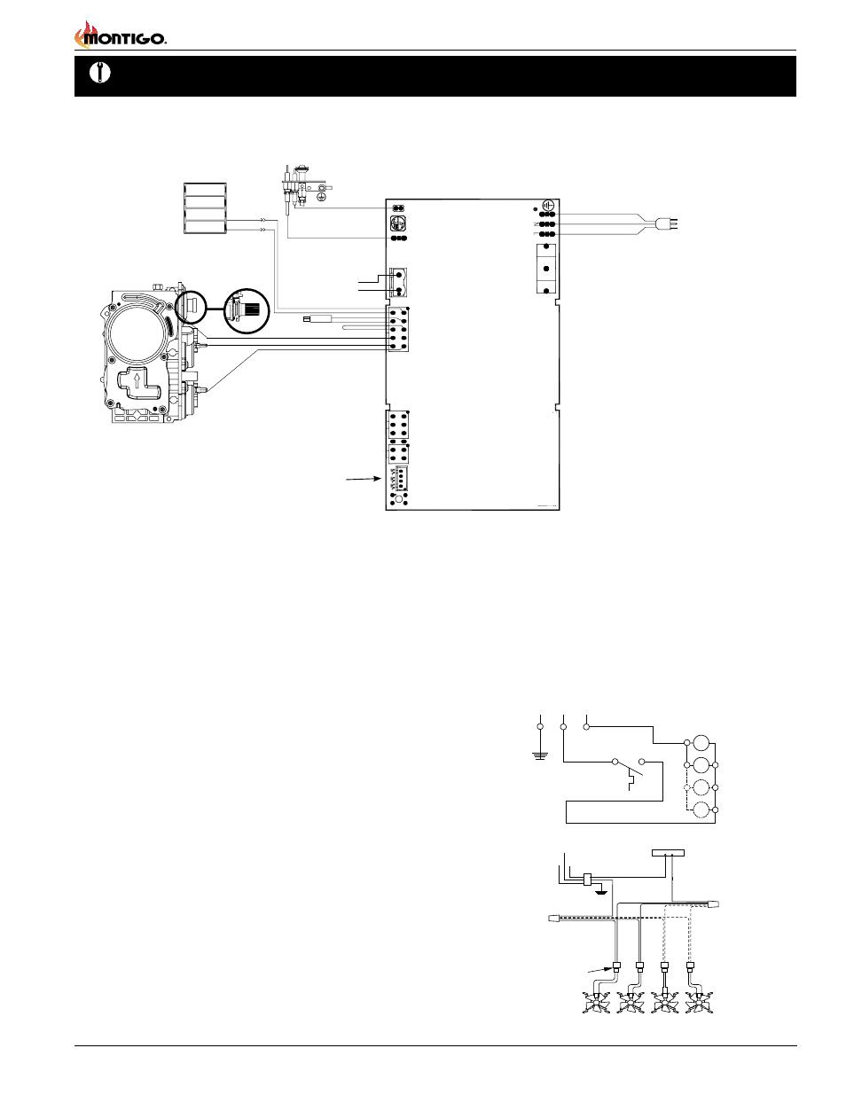 Installation Wiring Page 13 B Series Dv 2 Gas Fireplace Montigo Firep Diagram Background Image