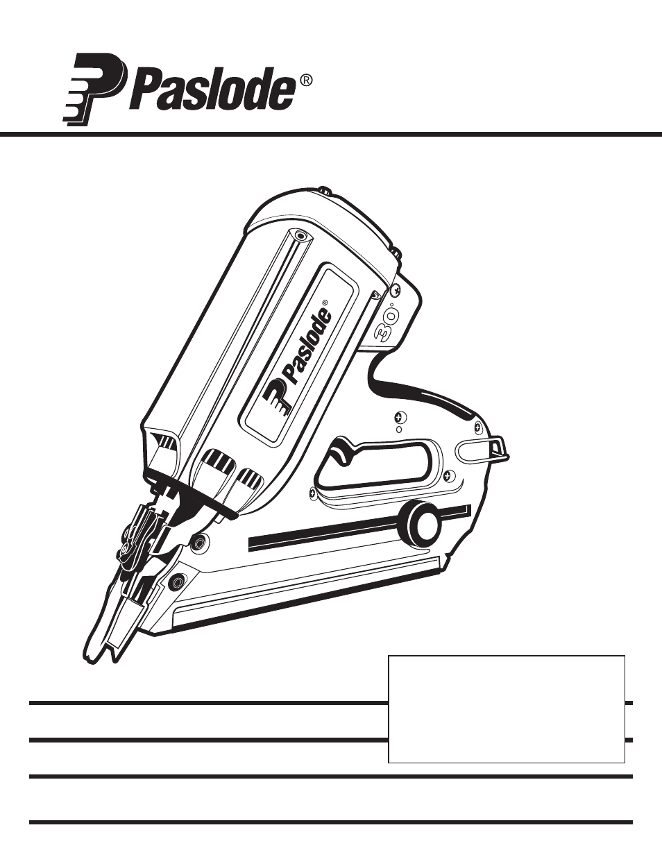 Paslode IMCT Cordless Framing Nailer User Manual | 20 pages | Also ...