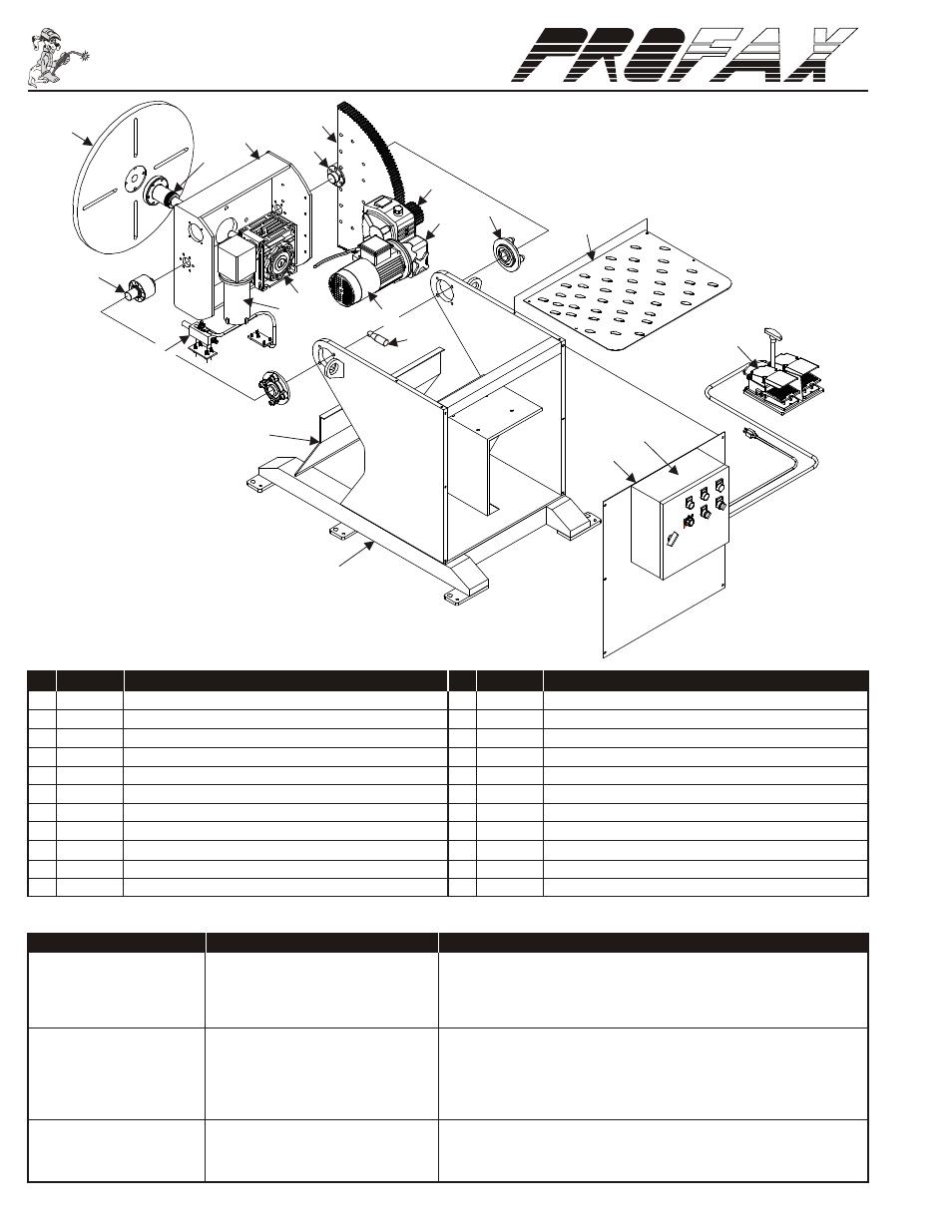doc006 wp 500 parts list, daily maintenance profax wp 500 user manual