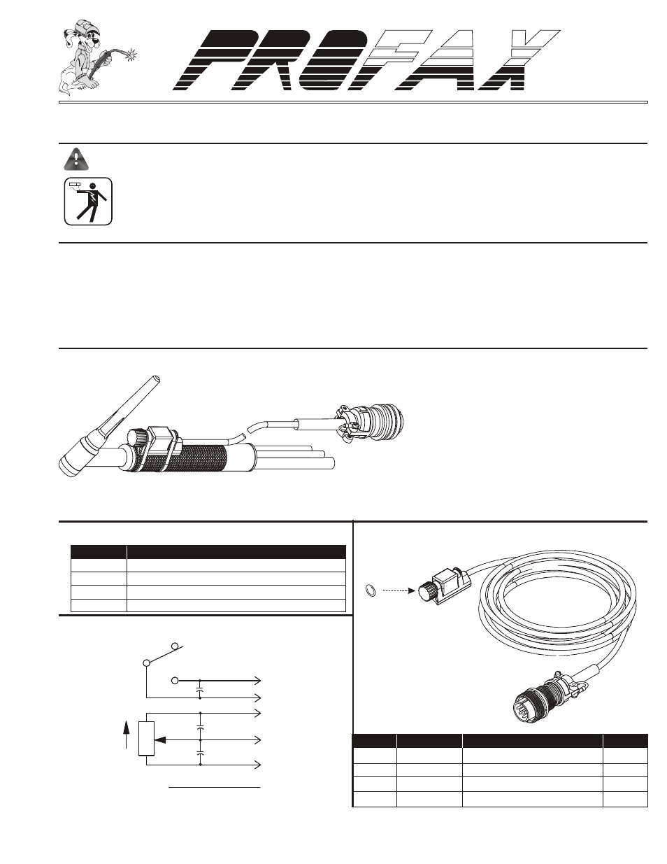 Profax Lftc 6 User Manual 2 Pages Lincoln Welder Invertec 275 Parts Background Image