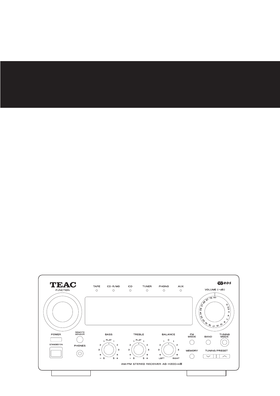 Teac AG-H300MKIII User Manual   60 pages