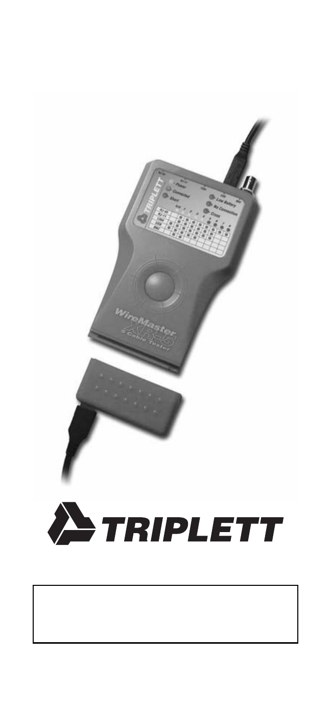 Triplett WireMaster XR5 – PN: 3260 User Manual | 16 pages