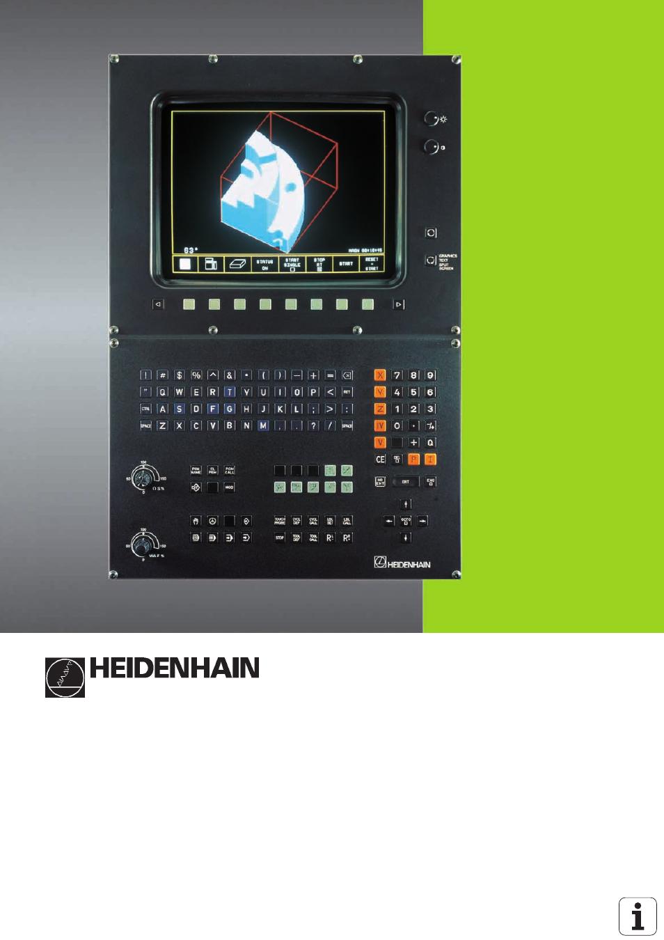 heidenhain tnc 407 280 580 iso programming user manual 333 pages rh manualsdir com Micros Programming Manual Mazatrol Programming Manual