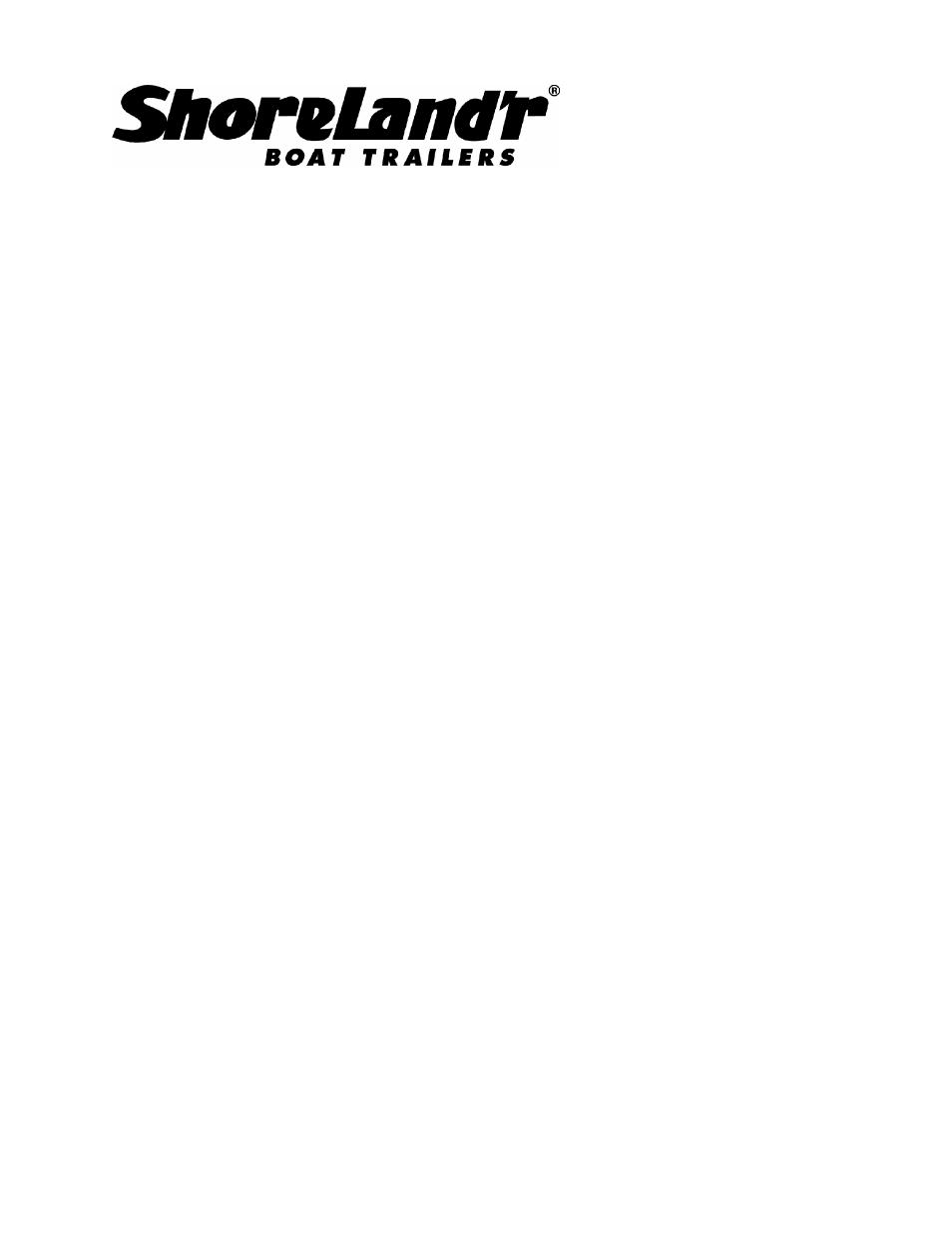 Shorelandr Sdv1831b User Manual 4 Pages Shorelander Wiring Harness Background Image