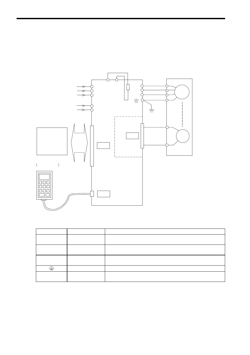 1 Connection Diagram  2 Names And Description Of Main Circuit Terminals  1 Wiring For Re