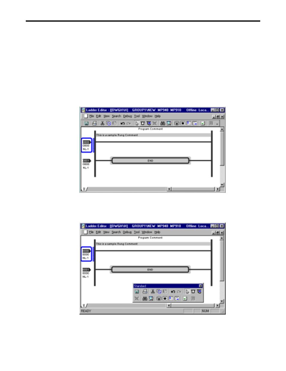 5 tool bar | Yaskawa Ladder Works Operation Manual User