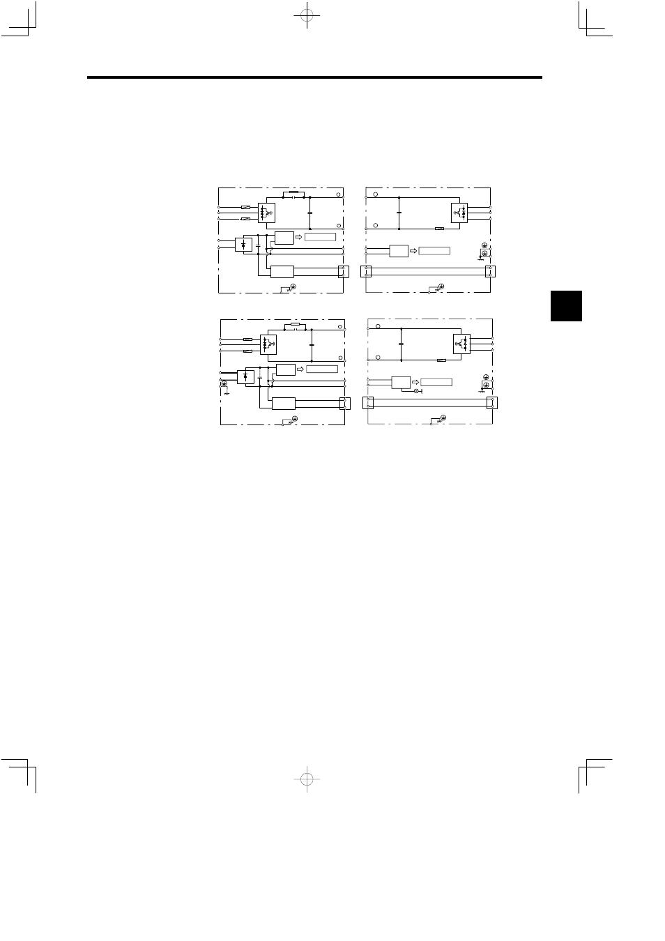3 Main Circuit Configuration  200 V Class External