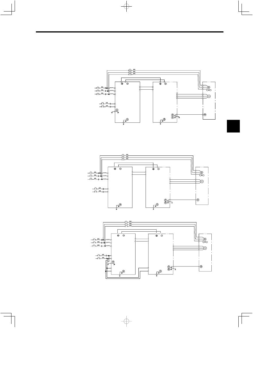 4 Main Circuit Connection Diagrams  200 V Class External