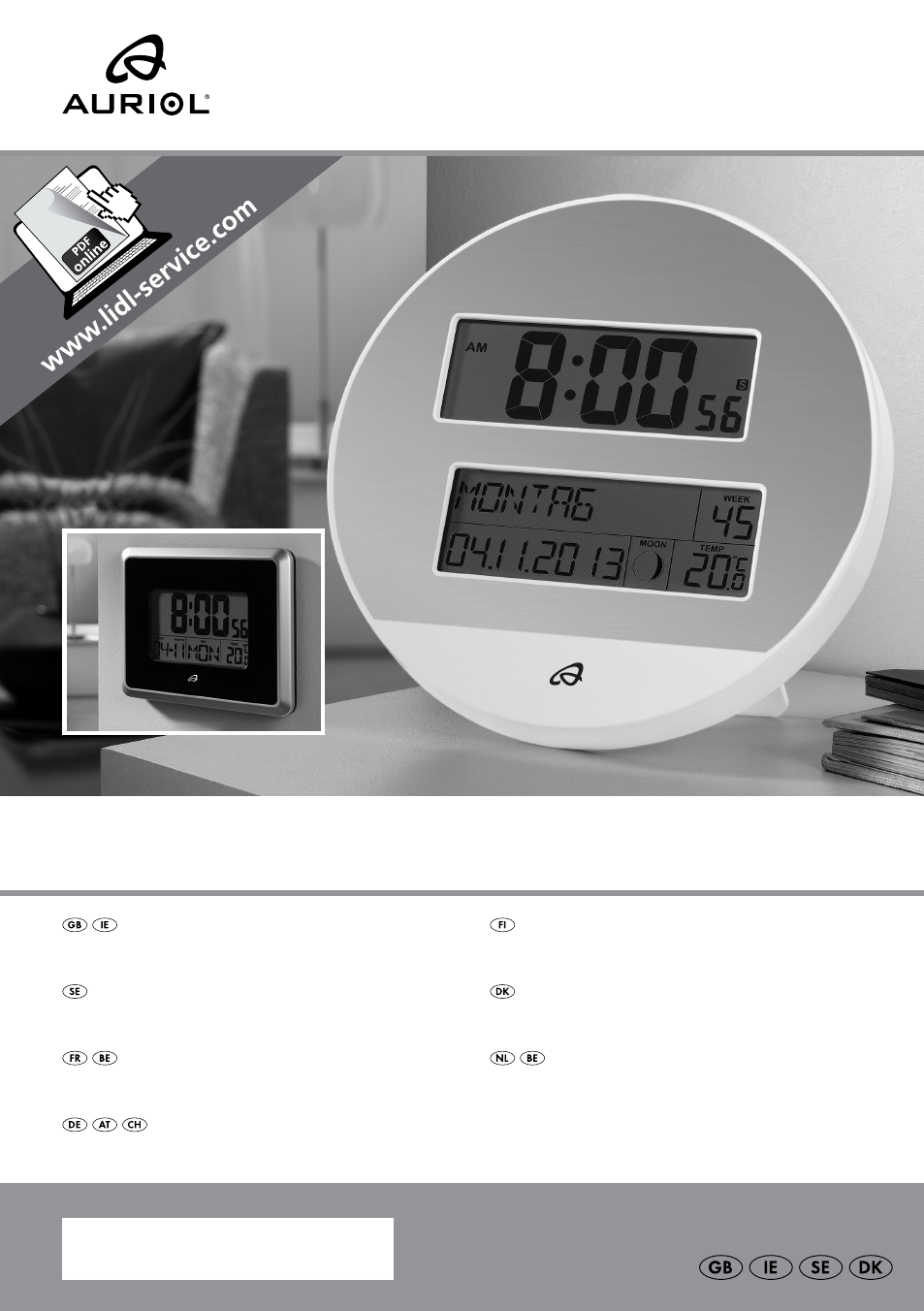 auriol z30237b c user manual 48 pages rh manualsdir com auriol lcd radio controlled clock manual auriol radio controlled clock instructions