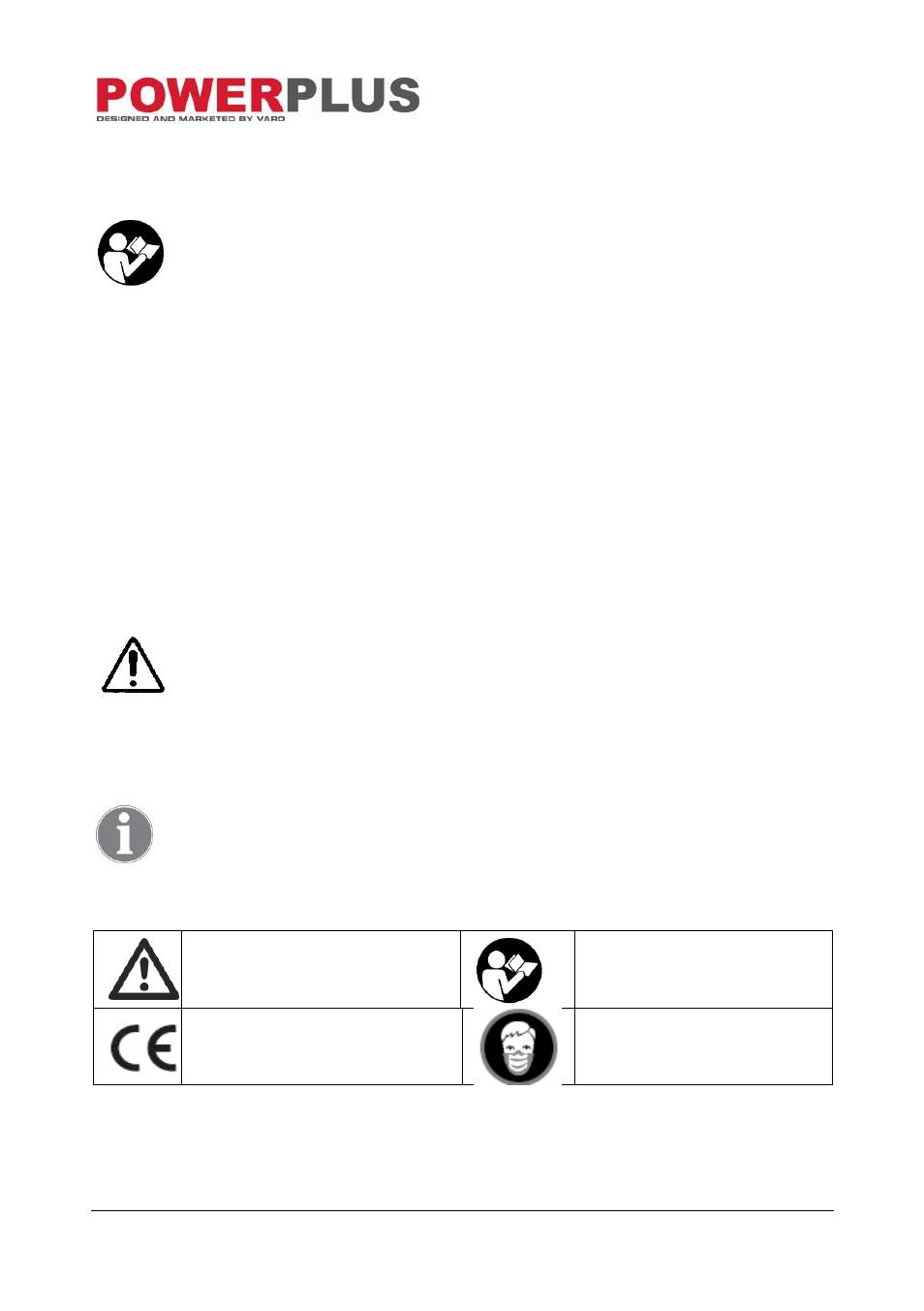 Description Fig A Package Content List Symbols Powerplus