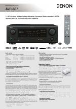 denon avr 687 manuals rh manualsdir com Denon AVR 687 User Manual Denon AVR 687 Dimensions
