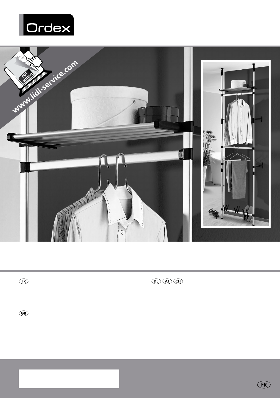Ordex Telescopic Wardrobe System User Manual 15 Pages