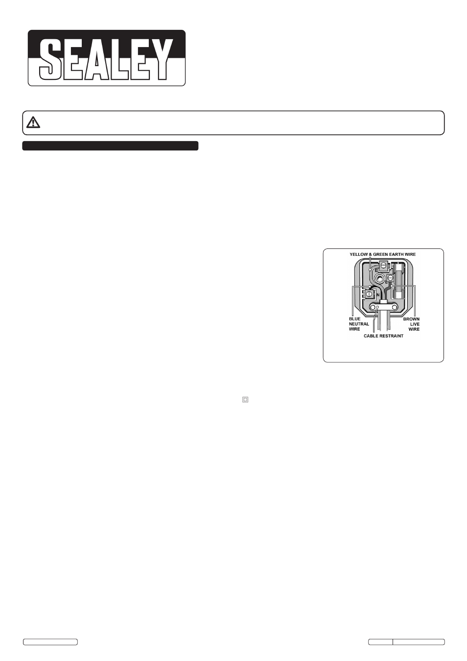 Sealey SDH20 User Manual | 4 pages