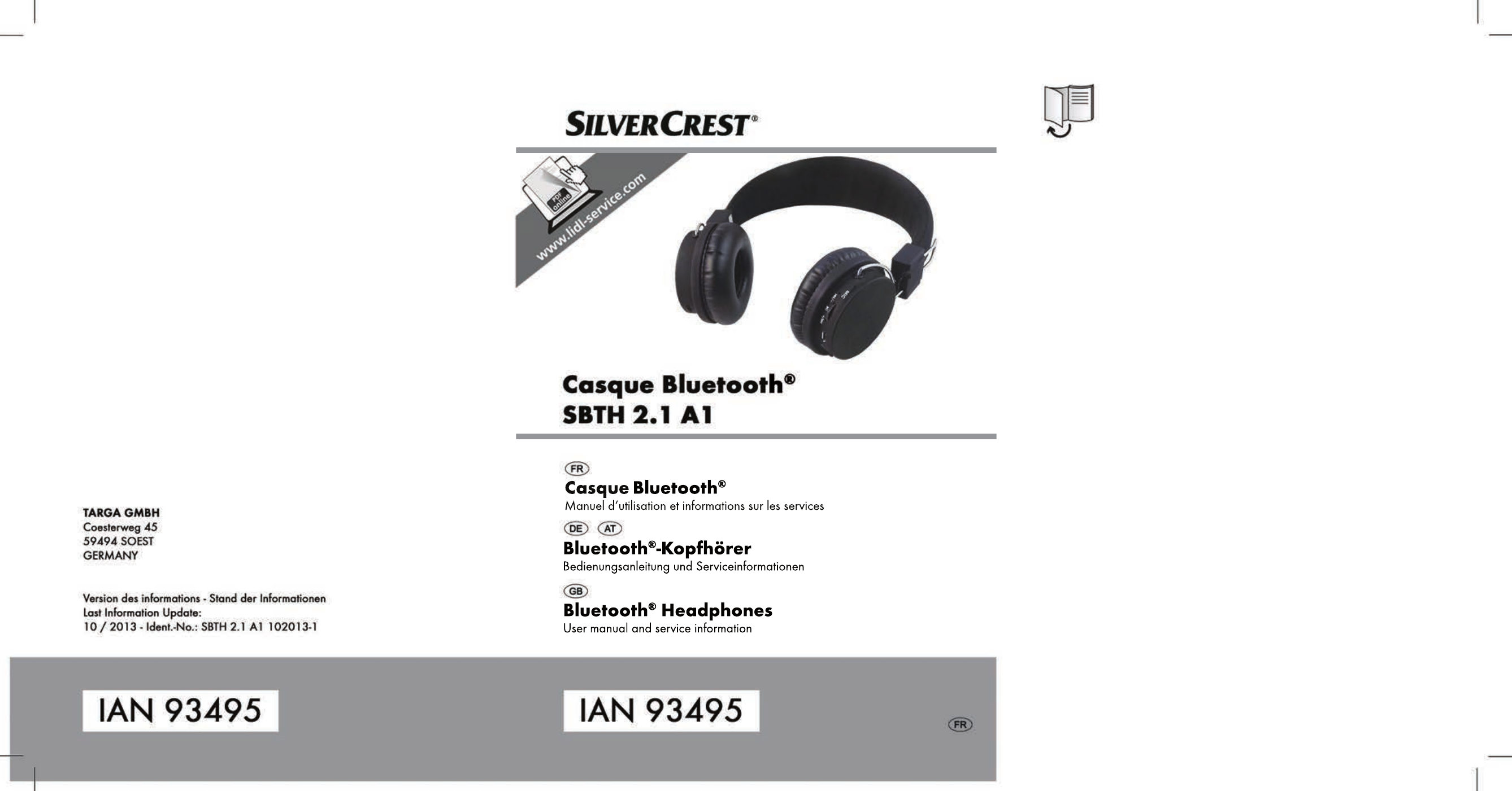silvercrest sbth 2 1 a1 user manual 64 pages rh manualsdir com GE Bluetooth Headset GE Hands-Free Headset