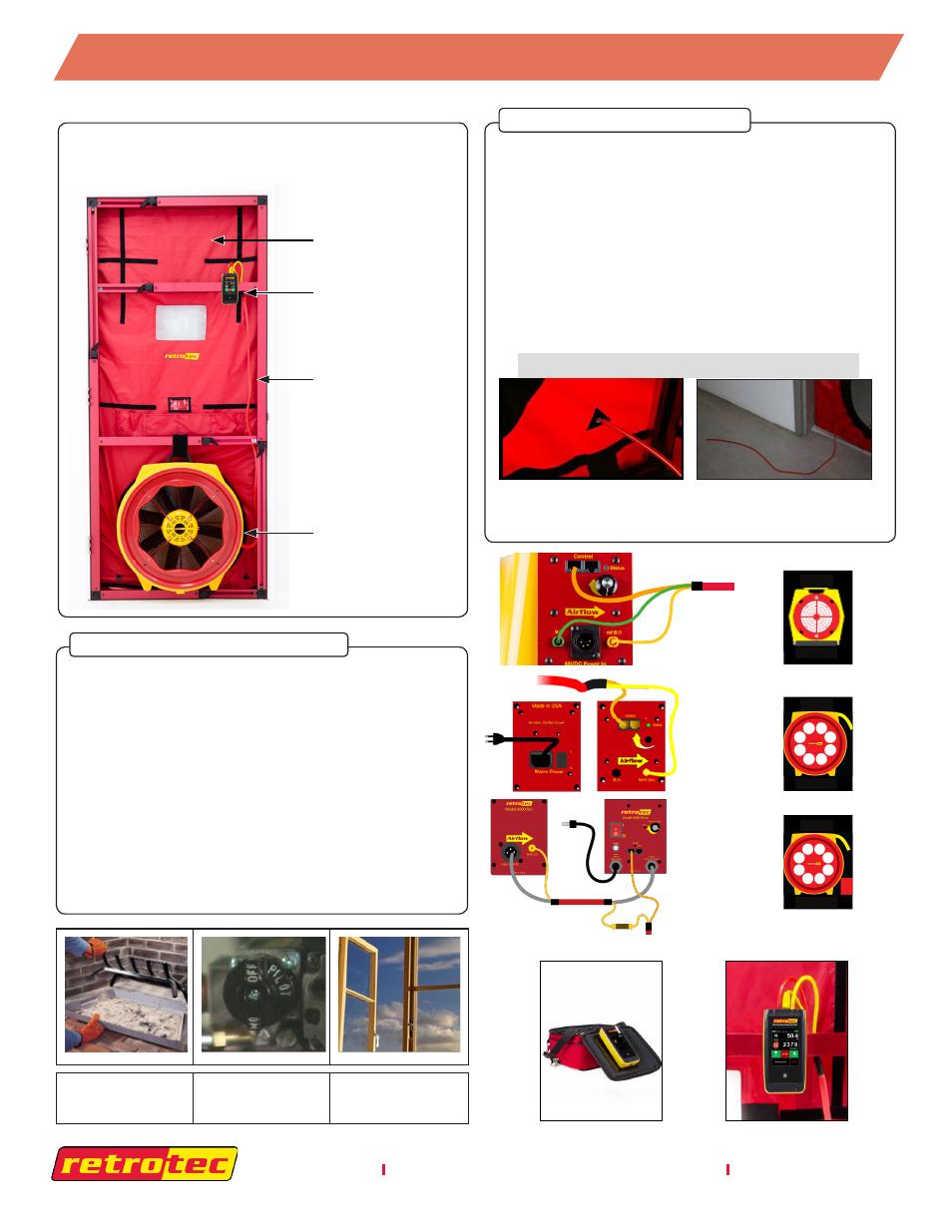 retrotec 5000 blower door with dm32 user manual 4 pages also for rh manualsdir com blower door manual retrotec blower door manual