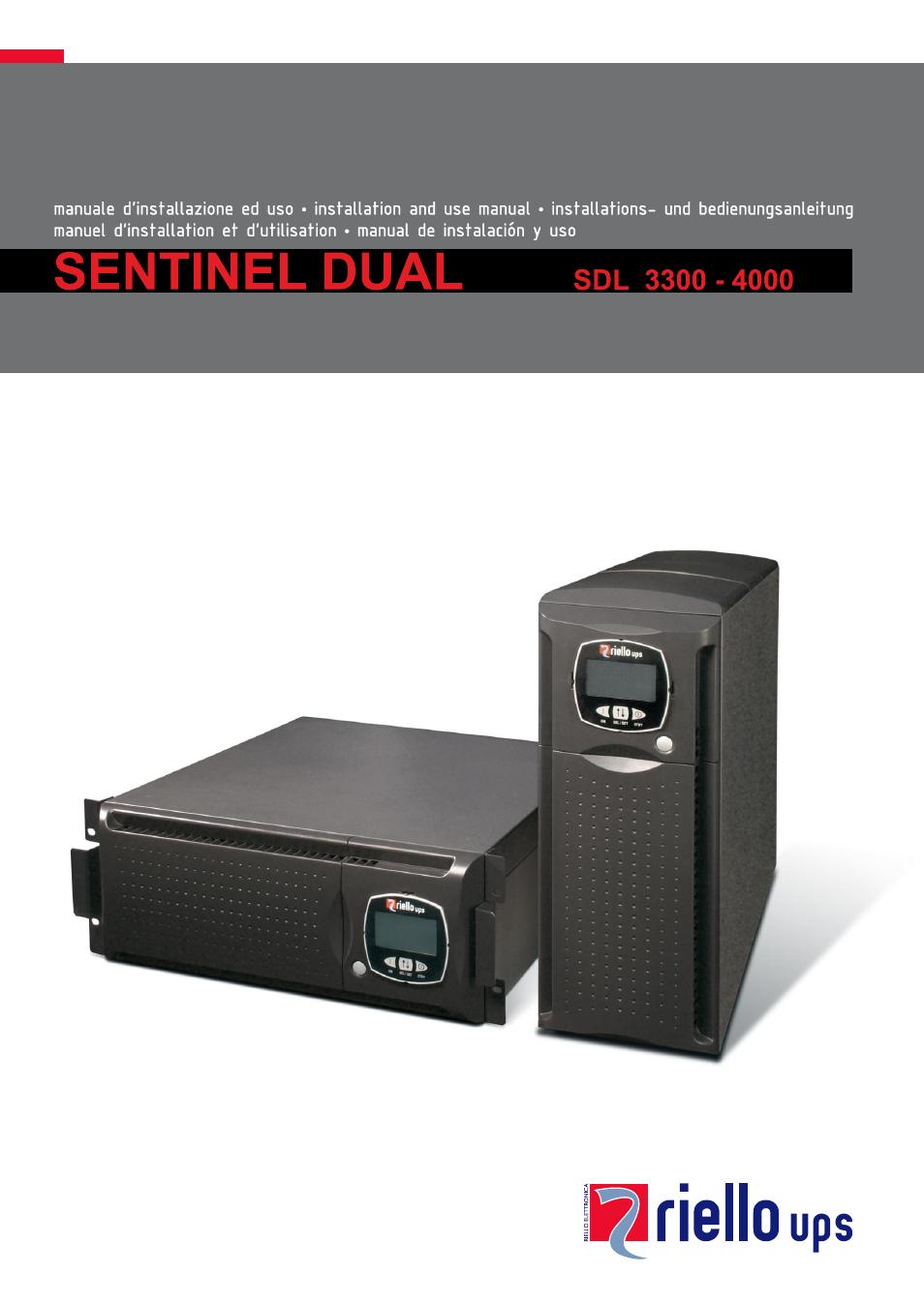 Riello UPS Sentinel Dual (High Power) (3 3 - 10 kVA) User