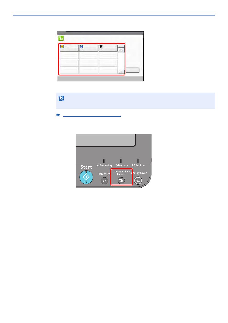 Logout, Logout -28, Simple login | Kyocera TASKalfa 2552ci