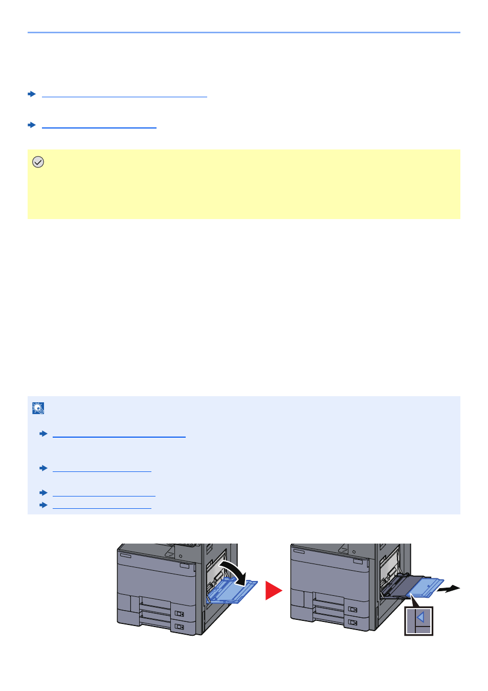Loading paper in the multi purpose tray, Loading paper in the multi