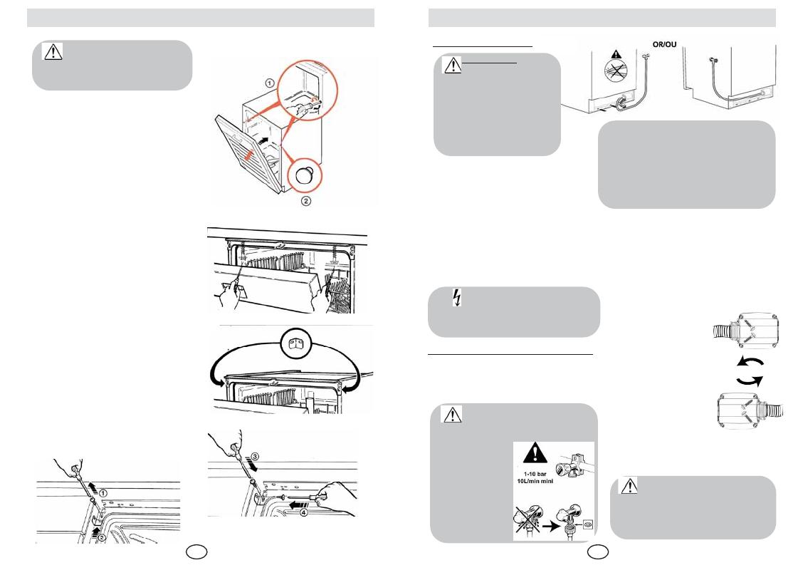 Installing Your Dishwasher De Dietrich Dvf300ju2 User Manual
