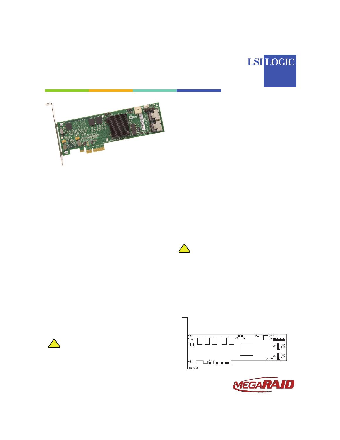 Avago Technologies MegaRAID SAS 8704ELP User Manual   3