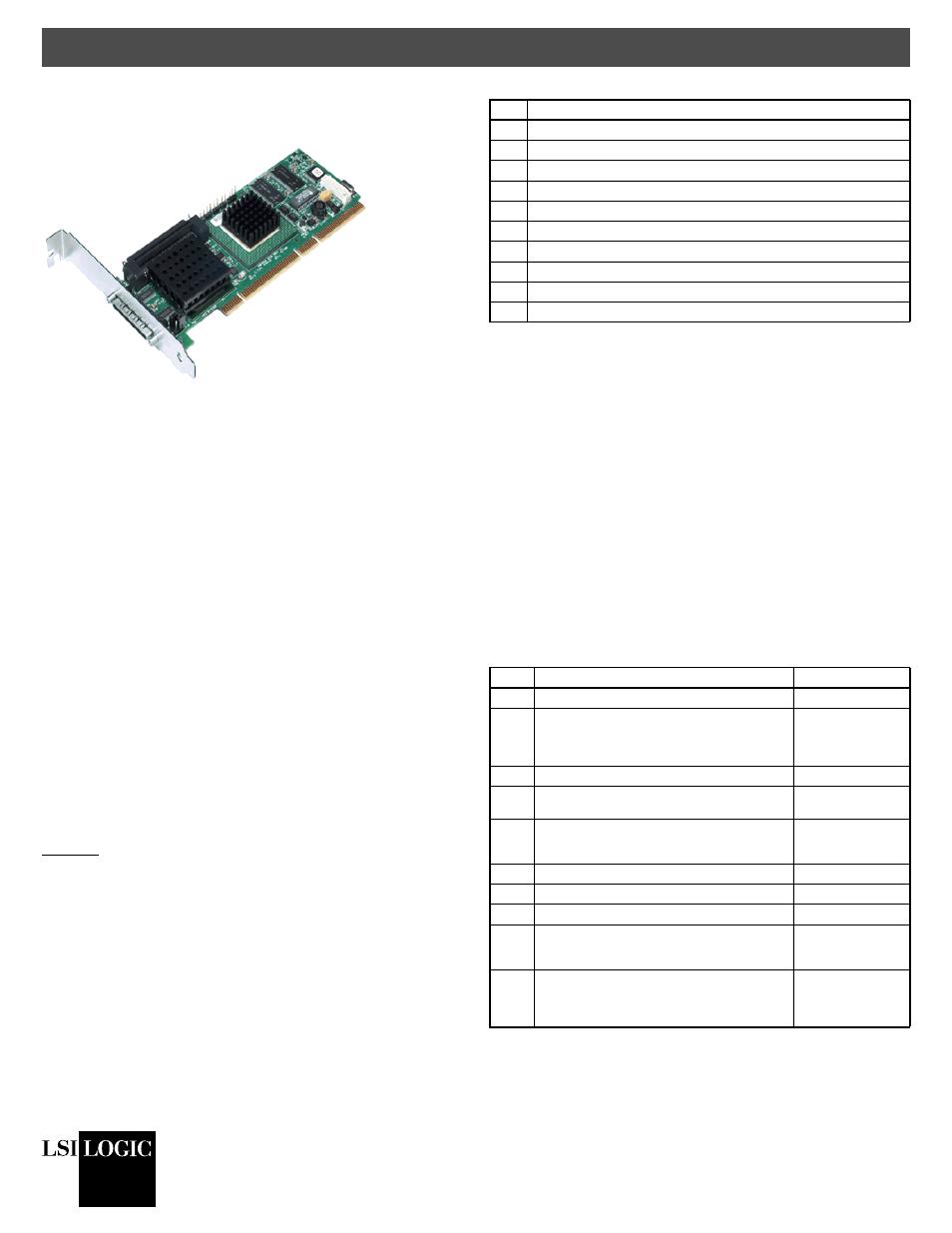 Avago Technologies MegaRAID SCSI 320-1 (520-1 CH) User Manual | 3